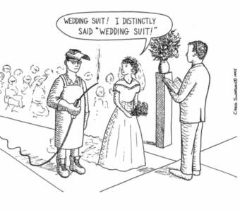 Humorous wedding