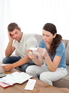 Couple stressed out about money